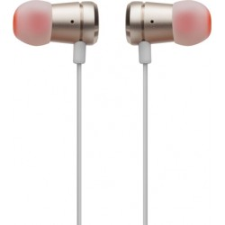 JBL T290 Pure Bass All Metal in-Ear Headphones with Mic (Gold)