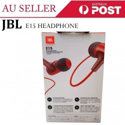 JBL E15 Signature Sound in-Ear Headphones with Mic (Red)