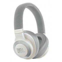 JBL Live 650BTNC Wireless Over-Ear Noise-Cancelling Headphones with Alexa (White)