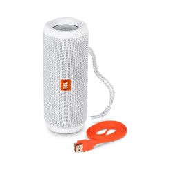JBL Flip 4 Portable Wireless Speaker with Powerful Bass & Mic (White)