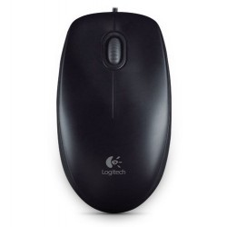 Logitech M100 USB Mouse Black