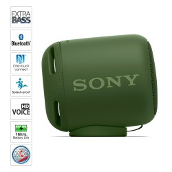 Sony Extra Bass SRS-XB10 Portable Splash-Proof Wireless Speakers with Bluetooth and NFC (Green)