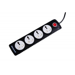 Honeywell 4 Out Surge Protector with Master Switch (Black)