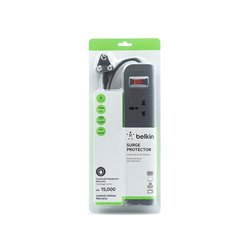 Belkin Essential Series 4-Socket Surge Protector (F9E400zb1.5MGRY)