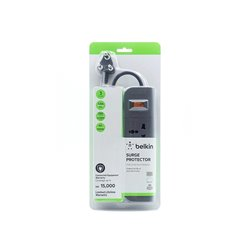 Belkin Essential Series 3-Socket Surge Protector (F9E300zb1.5MGRY)