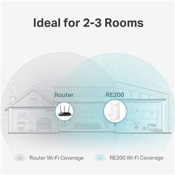 Tp-Link RE 200 Wifi N 300Mbps Dual Band AC750 Range Extender