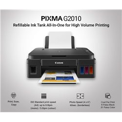Canon Pixma G2010 All-in-One Ink Tank Colour Printer (Black)