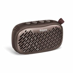 FINGERS Musilicious BT1 Portable Wireless Bluetooth-v5.0 Multifunction Speaker with Best FM - USB - AUX - MicroSD (Colour - Choc