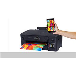 Brother HL-T4000DW - A3 Inkjet Printer, Refill Ink Tank Wireless Duplex Printer