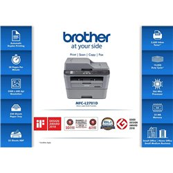 Brother MFC L2701D Monochrome Multi-Function Laser Printer with Auto Duplex Printing