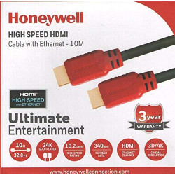 Honeywell 10 Meter HDMI Cable with Ethernet (Black/Red) HC000006/HDM/10M