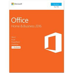 Microsoft Office Home and Business 2016 for Windows 7,8,10 (32Bit/64Bit)Word, Excel, PowerPoint, OneNote Outlook 2016)