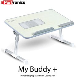 Portronics POR-704 Adjustable Laptop Table (Grey)