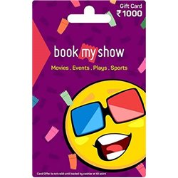 BookMyShow Gift Card Rs 1000