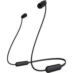 Sony WI-C200 Wireless Neck-Band Headphones with up to 15 Hours of Battery Life – Black