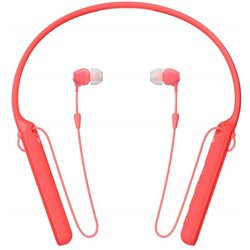 Sony WI-C400 Wireless Behind-Neck in Ear Headphone (Red)