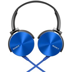 Sony Extra Bass MDR-XB450AP On-Ear Headphones with Mic (Blue)