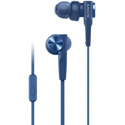 Sony MDR-XB55AP in-Ear Extra Bass Headphones with Mic (Blue)