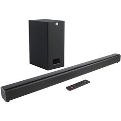 JBL Cinema SB130 2.1 Channel Soundbar with Wired Subwoofer (110 Watts, Dolby Digital, Extra Deep Bass)