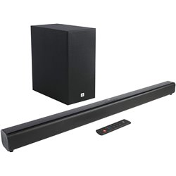 JBL Cinema SB160 2.1 Channel Soundbar with Wireless Subwoofer (220 Watts, Dolby Digital, Extra Deep Bass)