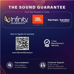 JBL Bar 2.1 Soundbar with Wireless Subwoofer (300 Watts, 4 Woofers, Dolby Digital, Surround Sound)