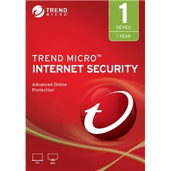Trend Micro Internet Security Latest Version (Windows) - 1 User, 1 Year (Email Delivery in 2 Hours - No CD)