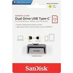 "SanDisk Ultra Dual Flash Drive, Type C, 256GB, USB 3.1"" High-Speed Performance USB 3.1"