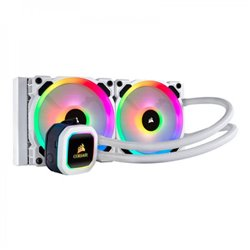 Corsair Hydro H100i RGB PLATINUM SE, 240mm Radiator, Dual 120mm LL Series PWM Fans, RGB Lighting with Software Liquid CPU Cooler