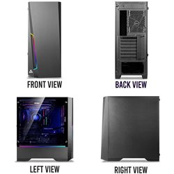 Antec DP501 Mid Tower Gaming Cabinet Support ATX, Micro-ATX, ITX Motherboard with Tempered Glass Side Panel, 1 x 120mm Rear Fan