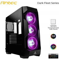 Antec DF500 RGB Mid Tower Gaming Cabinet Support ATX, M-ATX, ITX Motherboard with Tempered Glass Side Panel, 3 x 120mm RGB Fan