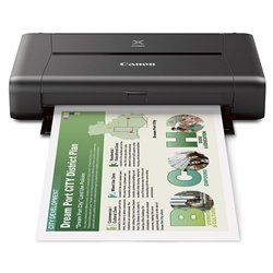 Canon Pixma IP 110 W/Battery Single Function Inkjet Printer (Black)