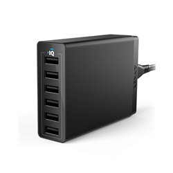 Anker AK-848061074772 6-Port USB Wall Charger (Black)