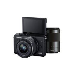Canon EOS M200 Mirrorless Camera, EF-M15-45mm f/3.5-6.3 is STM and EF-M55-200mm f/4.5-6.3 is STM Lens, 24.1 MP, 16GB Memory Card