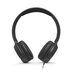 JBL Tune 500 Powerful Bass On-Ear Headphones with Mic (Black)