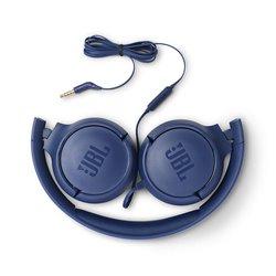 JBL Tune 500 Powerful Bass On-Ear Headphones with Mic (Blue)