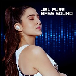 JBL T100TWS True Wireless in-Ear Headphones with 17 Hours Playtime, Stereo Calls & Bluetooth 5.0 (White)
