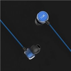 boAt BassHeads 172 with HD Sound, in-line mic, Dual Tone Secure Braided Cable & 3.5mm Angled Jack Wired Earphones (Blue)