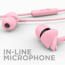 boAt BassHeads 100 Wired Headset  (Taffy Pink, Wired in the ear)