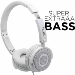 boAt bass Head 910 Wired Headset  (White, Wired over the head)